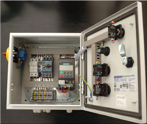 R alisation coffrets variateurs de fr quence variateurs de vitesse alimentations monophas s - Cablage armoire electrique triphase ...